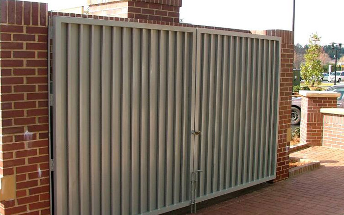 Metal Dumpster Gate